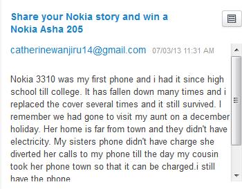 Nokia Asha 205 Giveaway Winner - Week 3