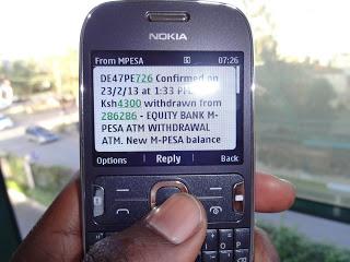 M-PESA ATM Withdrawal