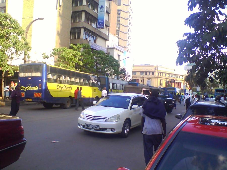 Matatu Strike Parked Buses Moi Avenue