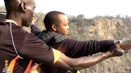 Mark Kaigwa Bungee Jumping at Victoria Falls Bridge