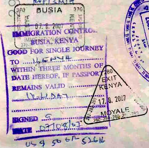 Kenya Visa Entry and Exit