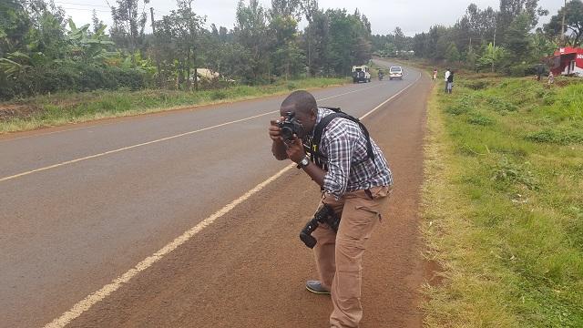 Amunga shooting on the side of the Embu Meru Highway