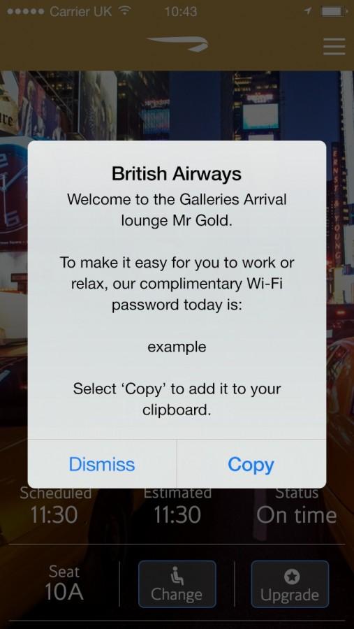British Airways iBeacon (C) BA