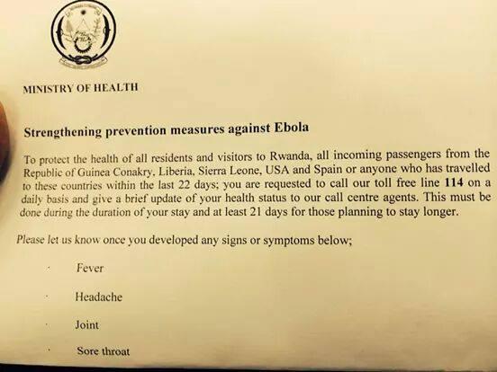 Ebola Screening - Rwanda 2