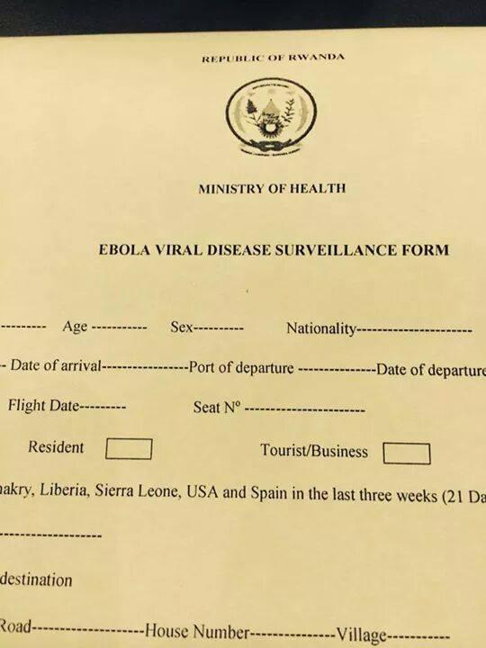Ebola Screening - Rwanda