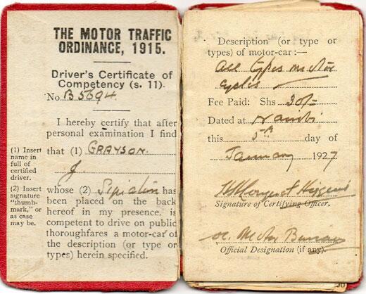 Kenyan driving license