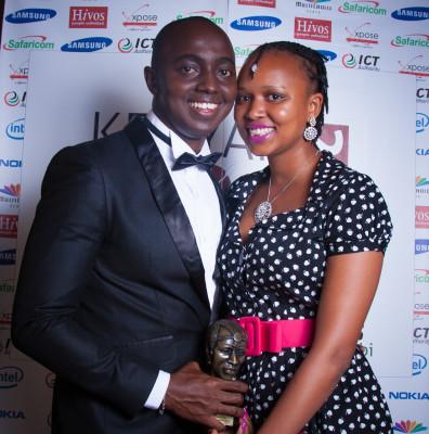 Ben Kiruthi and his wife Gathoni Kiruthi who won the best Photography blog at the 2014 BAKE Kenyan Blog Awards