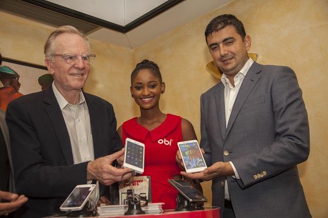 Obi CEO and Founder John Sculley , Obi Model Agnes Wairimu