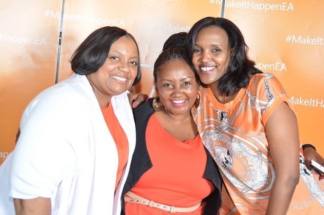 (L-R)Sharon Harris - Global sales strategylead for mobile, Celeste Muli-Gatheru - Marketing Manager, Mariam Abdulahi - Microsoft Mobile GM
