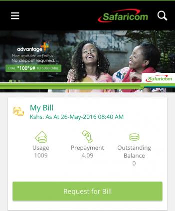 Safaricom app 1
