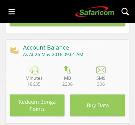 Safaricom app 4