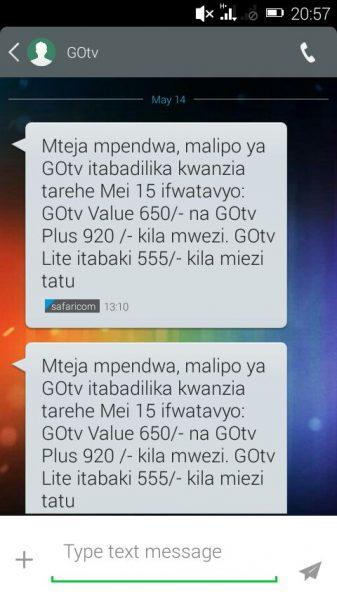 GOtv increases its bouquet prices in Kenya - HapaKenya