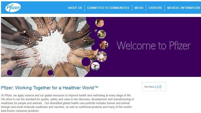 Pfizer Website